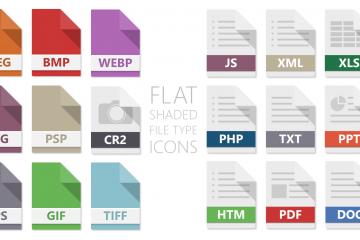 Flat Shaded File Icon Set